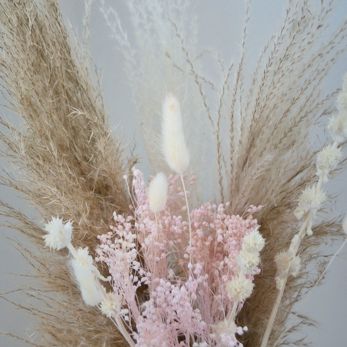 Blush & Brown Dried Flower Bunch