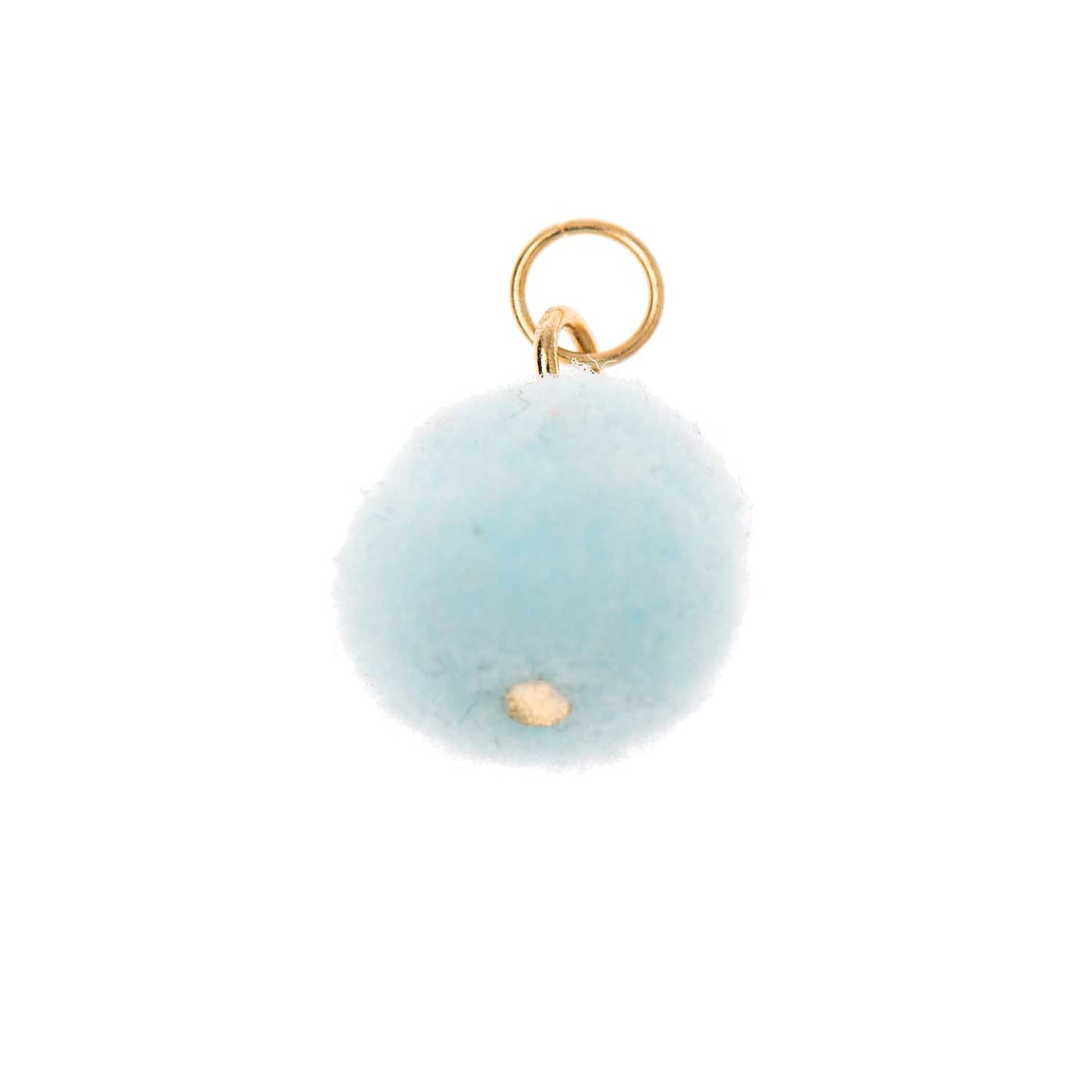 Mini pompon bleu clair/or 12mm Mix it up