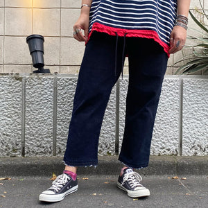 Tuck Denim PT(Navy)