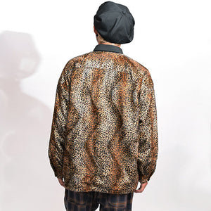 Animal Wide Coach Jacket(Brown)
