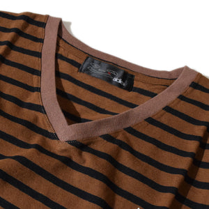 V Neck Big T(Brown)