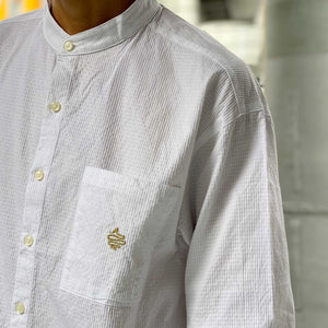 Standing Collar Shirt(White)