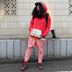 Rib Switching Big Parka(Pink)
