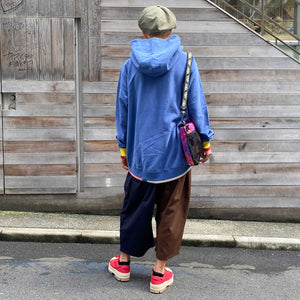 Rib Switching Big Parka(Blue)