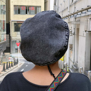 Denim Beret(Black)
