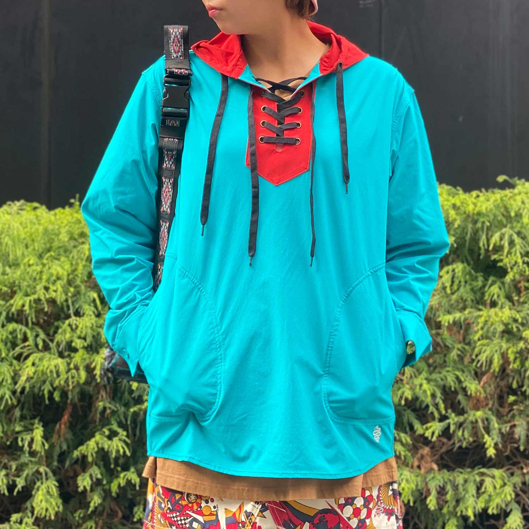 Stretch Pullover(Turquoise)