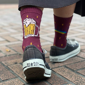 Beer Sox(Bugundy)