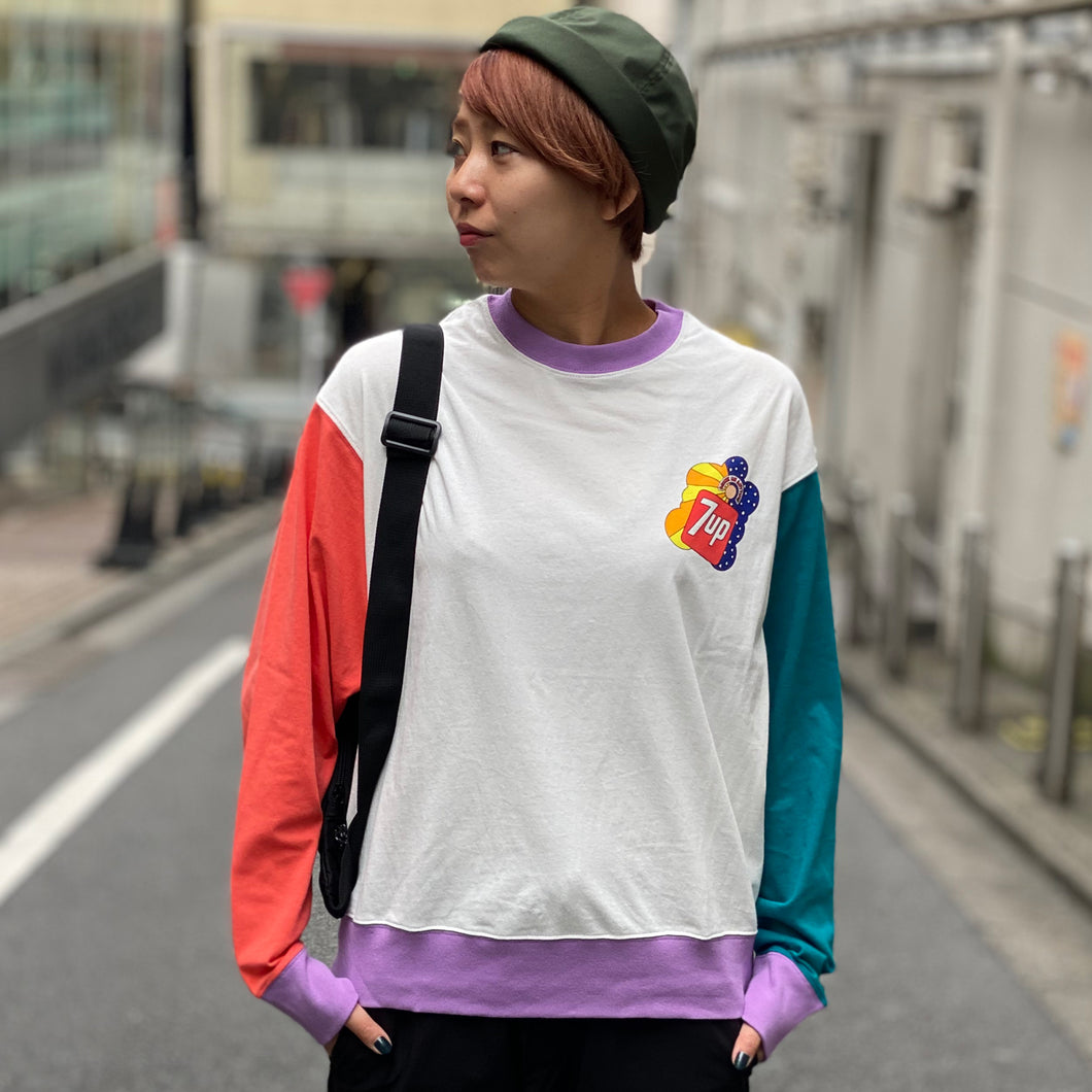 7UP collaboration Wide Long T(White)