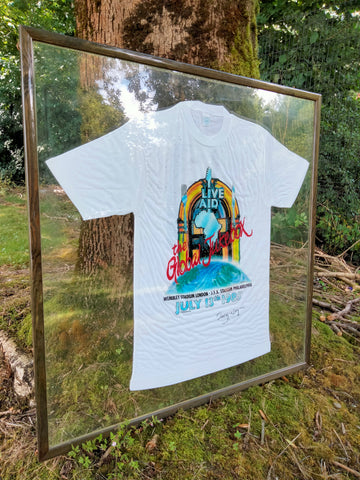 Signed Live Aid T-shirt by Bob Geldof The Bidding Room Charity Auction RNLI