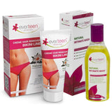 Buy everteen Bikini Line Hair Remover Creme and Natural Intimate Wash Combo from official brand web store