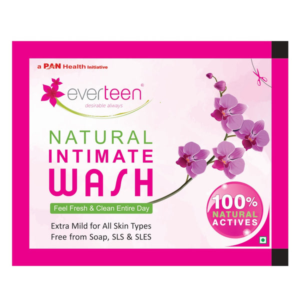 Carry everteen Natural Intimate Wash sachet in your purse at all times