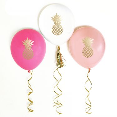 Metallic Gold Pineapple Balloons