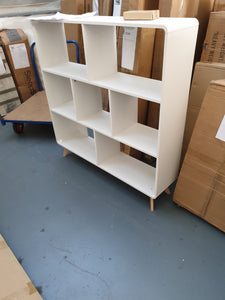 Scandanavian Cube bookcase 4 foot x 4 foot white