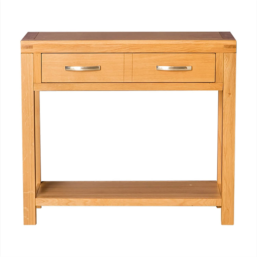 ROSELAND ABBEY LIGHT OAK CONSOLE TABLE