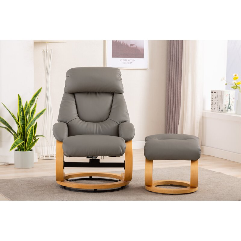 Ahmaud Livia Manual Recliner with Footstool