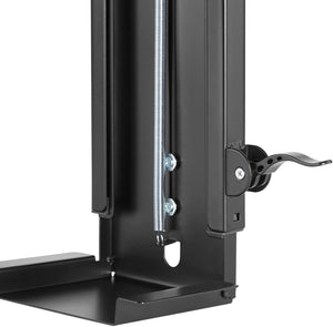 Allcam Under-desk CPU Holder/PC mount: 360° Swivel, Height & Width Adjustable, in Black