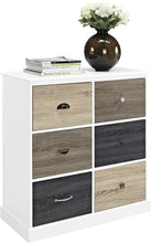 Load image into Gallery viewer, Ameriwood Mercer 6 Storage Cabinet with Multicolored Door Fronts, laminated MDF