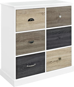 Ameriwood Mercer 6 Storage Cabinet with Multicolored Door Fronts, laminated MDF