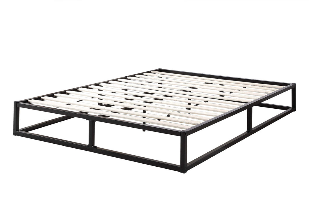 Sleep Design Amersham Black Metal Low Platform Bed Frame
