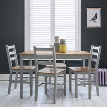 Load image into Gallery viewer, Annika Dining Table in Silk Grey & Pine NO chairs or bench included