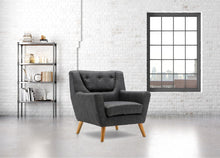 Load image into Gallery viewer, BIRLEA LAMBETH ARMCHAIR GREY EASY CHAIR SCANDINAVIAN MODERN RETRO
