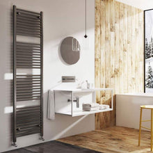 Load image into Gallery viewer, BRENTON NEROLA GREY METALLIC HEATED TOWEL RAIL - 1800 X 500MM TRST03GM
