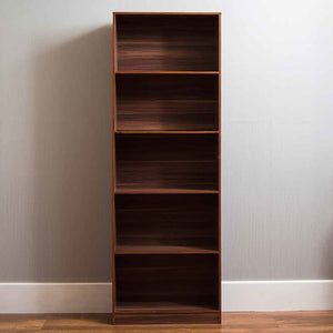 Cambridge 5 Tier Extra Large Bookcase Display Shelving Storage Unit Stand Walnut