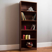 Load image into Gallery viewer, Cambridge 5 Tier Extra Large Bookcase Display Shelving Storage Unit Stand Walnut