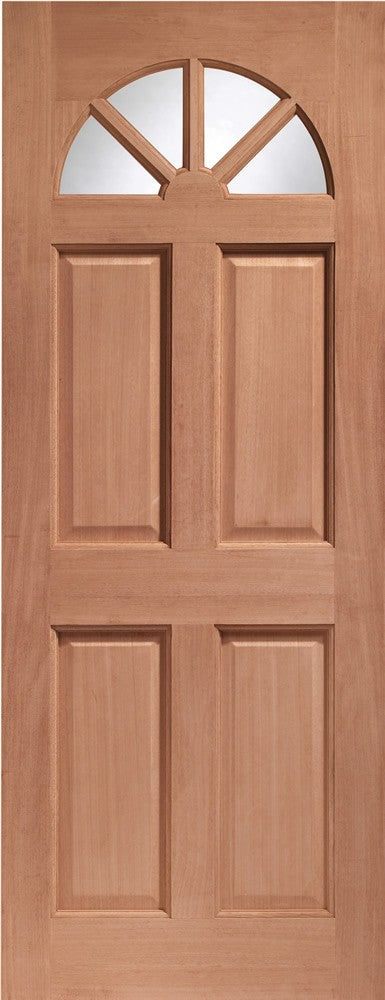 Carolina Single Glazed External Hardwood Door (Dowelled) Clear Glass 1981x838x44
