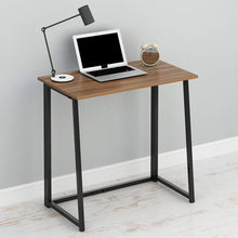 Load image into Gallery viewer, CherryTree Furniture Compact Flip-Flop Folding Computer Office Desk Laptop Table