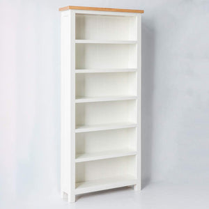 FARROW WHITE LARGE BOOKCASE BY ROSELAND FURNITURE