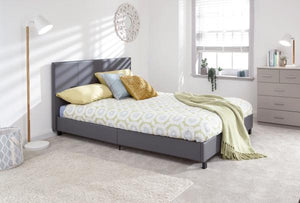 GFW 150CM king size Bed in a box Grey