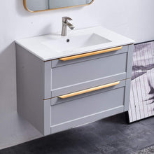 Load image into Gallery viewer, GLANZHAUS Modern Light Grey Bathroom Wall Hung Vanity Unit 800mm, SINK NOT INCLUDED