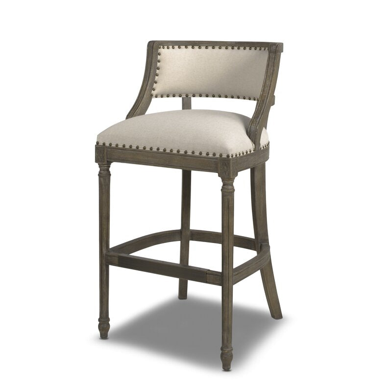 Grice Bar Stool 30 inch Beige by Jennifer Taylor Home