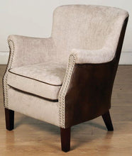Load image into Gallery viewer, HARLOW CHAIR MINK/TAN FUSION