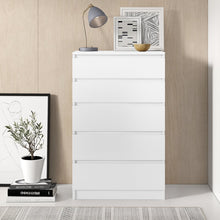 Load image into Gallery viewer, Helen 5 Drawer Chest White