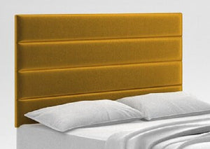 king size 5 foot upholstered headboard, yellow gold