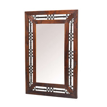 Load image into Gallery viewer, JALI SHEESHAM RECTANGULAR MIRROR W72 x H106 x D4 cm