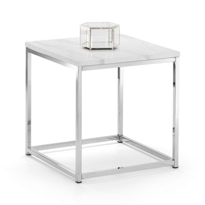 Julian Bowen Scala Lamp Table Marble Chrome