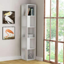 Load image into Gallery viewer, Lucky corner bookcase, White