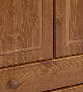 Malmo Stained Pine 2 Drawer Double Wardrobe (H)1373mm (W)883mm (D)480mm