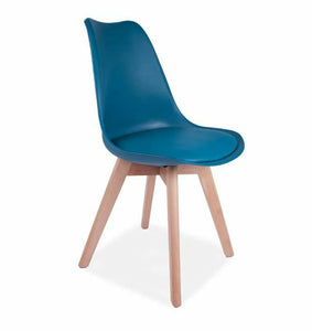MMILO 4x Tulip Pyramid Dining Chairs With Beech Legs