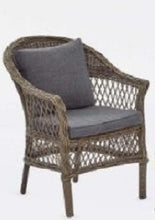 Load image into Gallery viewer, Moroccan tub chair with seat & back cushions,
