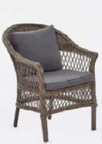 Moroccan tub chair with seat & back cushions,