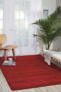 Nourison Amore Shaggy Rug, Red 3.30m x 2.39m, AMOR1