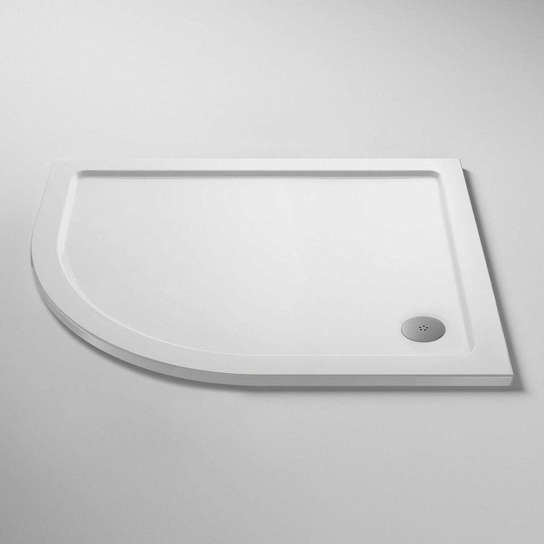 Nuie Pearlstone Offset Quadrant Shower Tray 1200mm x 900mm Left Handed
