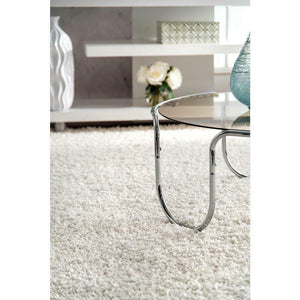 Nuloom Rug Carole Design 01831A White Easy Shaggy 240cmW x 305cmL (10X8 foot)