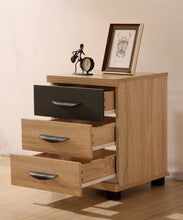 Load image into Gallery viewer, PACIFIC 3 Drawer Bedside Table Cabinet - Oak & Grey Luxury Bedroom Storage