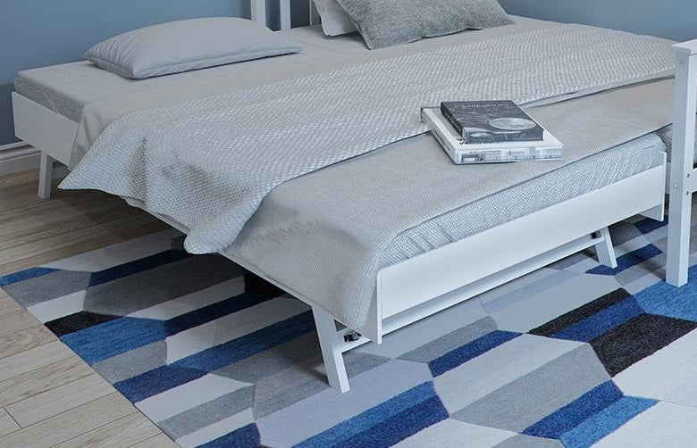 Fityou Pine Solid Wood pull out Trundle In Grey, Under bed trundle only, does not include main bed or mattress