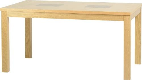 Seconique Wexford 59 inch Dining Table, Oak Veneer